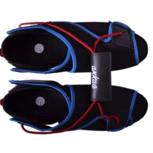 Adjustable Rowing Shoes of Red and Blue Color Strap