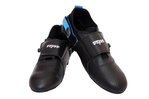 Adjustable Rowing Shoes of Side Blue Color Strap