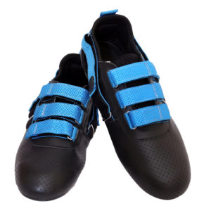 Adjustable Rowing Shoes of Blue Color Strap